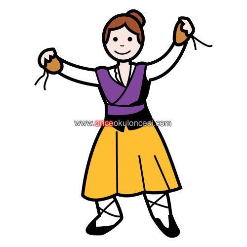 Halk Oyunları Kıyafetiyle Erkek Ve Kız çocuk