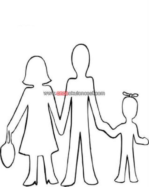Aile ile ilgili boyama picture