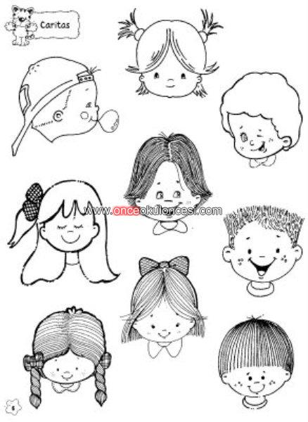 Küçük şirin çocuk Yüzleri Boyamaları