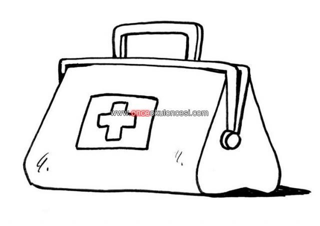 Doktor çantası Hemşire Kebidoktor Aletleri Kalıpları
