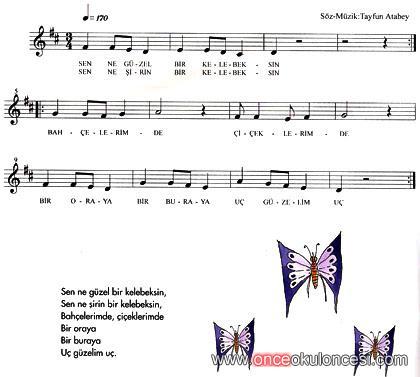 kelebek...(notalı şarkı)