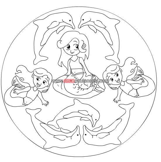 Masallar Mandala Boyamalari