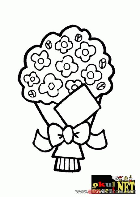 öğretmenler Günü Için çiçek Buketi Kartımız