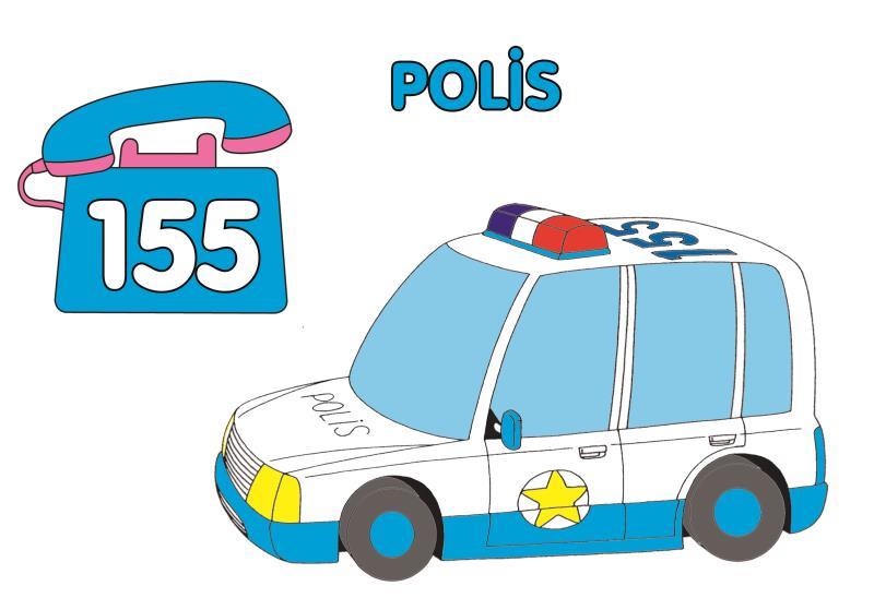 155 Polis Boyama Ust Ev Boyama Sayfasi