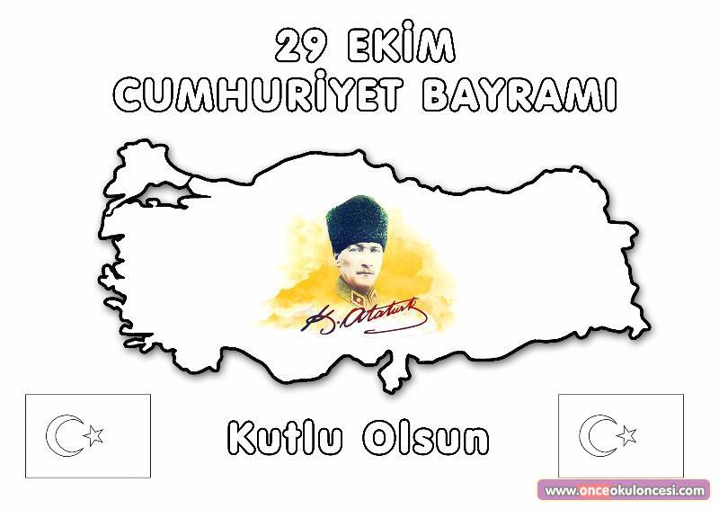 Ucretsiz Indirin 29 Ekim Cumhuriyet Bayram Boyama Etkinlikleri