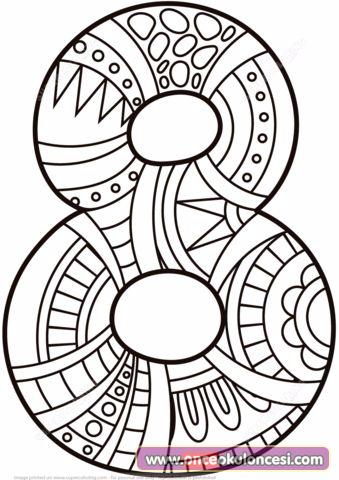 Mandala Sayı Boyamaları Detay Boyama