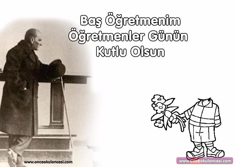 Kalipli Ataturk E Cicek Veren Cocuk Ogretmenler Gunu Etkinligi