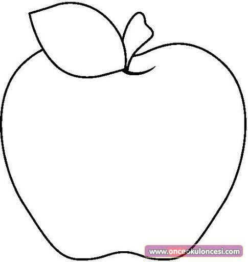 Büyük Elma Resmi Boyama Sayfası