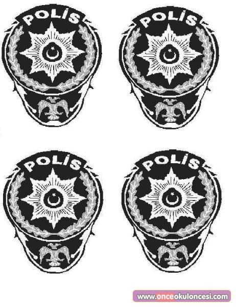 Okul öncesi Polis Boyama Gazetesujin