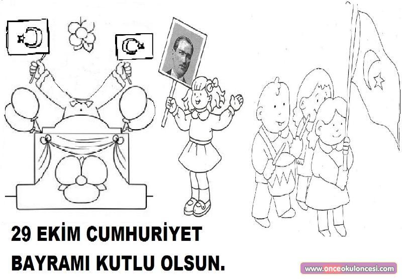 Cumhuriyet Bayramı Boyama