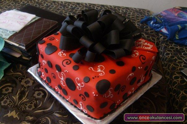 Black Red And White Cakes Birthday