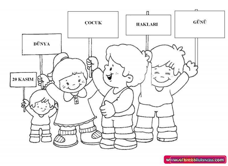 çocuk Hakları Günü Boyamaları