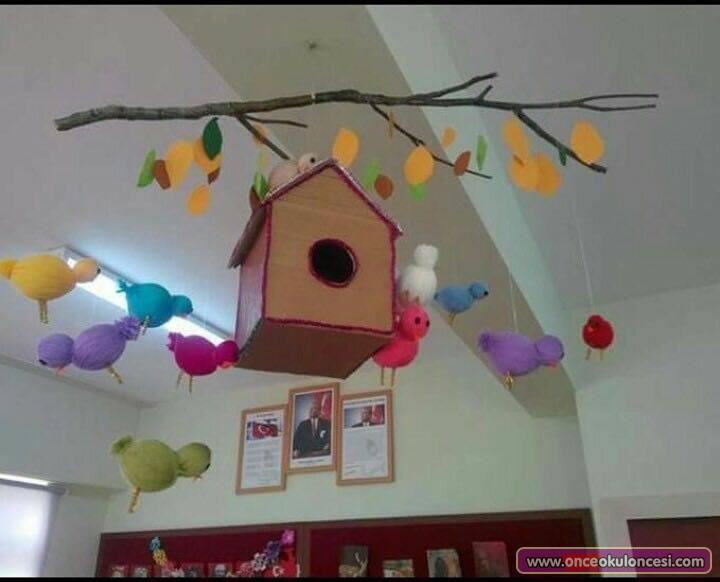 Kuş Yuvası Ve Kuşlar Mobili