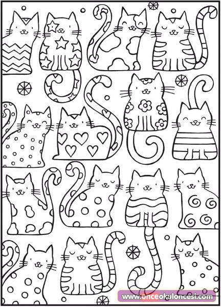 (50+ En iyi) Kedi Boyama Okul öncesi