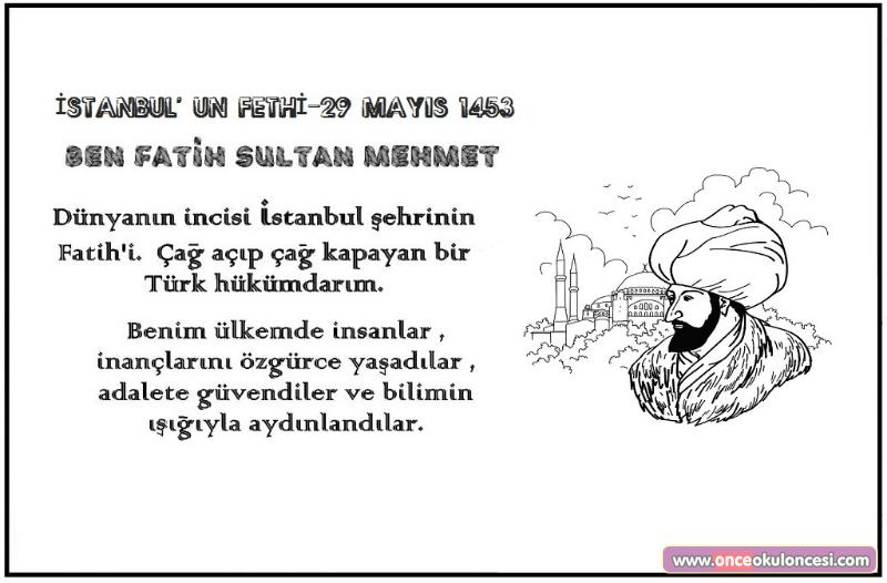 Fatih Sultan Mehmet Istanbulun Fethi Boyama Sayfası