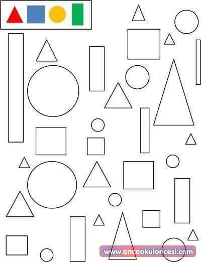 Geometrik şekiller Boyama