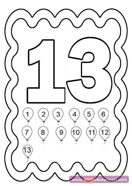 10 20 Arasi Sayilar Boyama