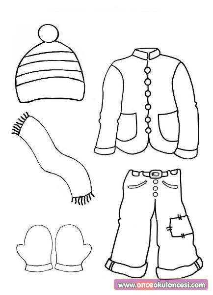 Kışlık Kıyafetler Boyama