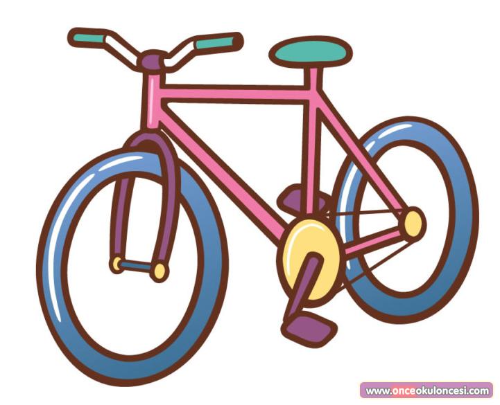 Okul Oncesi Bisiklet Resmi Boyama Coloring Free To Print