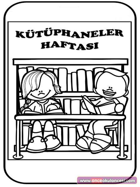 Kütüphaneler Haftası Boyama Sayfası