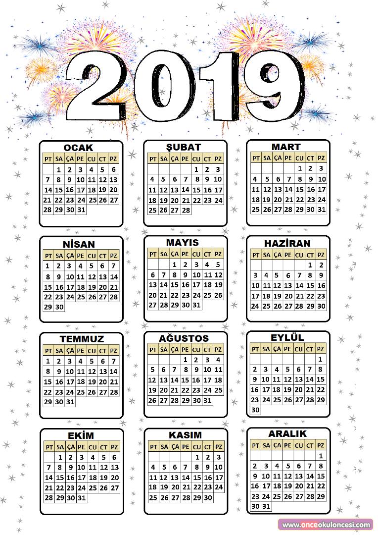 2019 Takvimi
