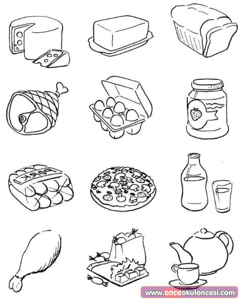 Kes yap t r besin piramidini olu tur for Food color pages