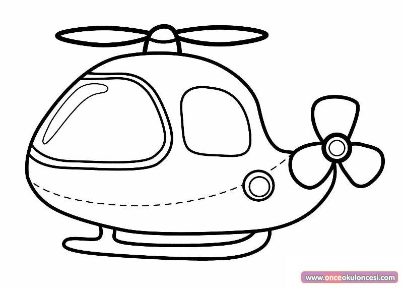 Helikopter Boyama Sayfası