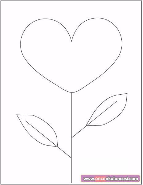 Kalpli çiçek Boyama Kart