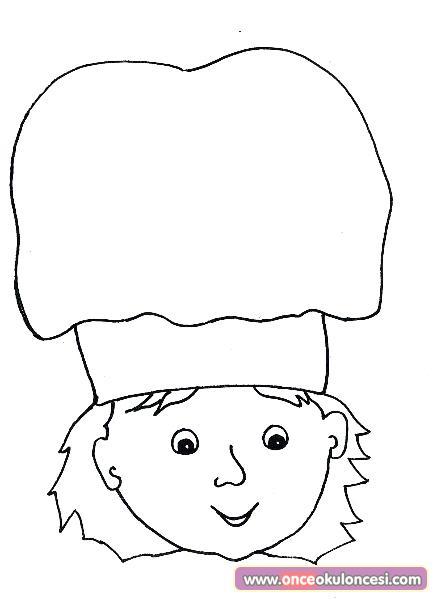 Aşçı çocuk Boyama Sayfası