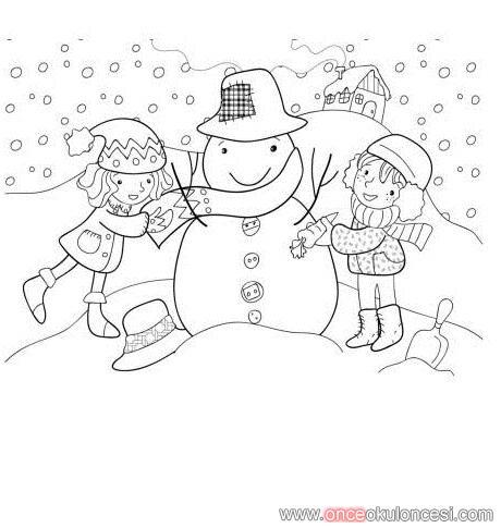 Kış Mevsimi Boyamaları