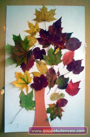 Kurumuş Yapraklardan Ağaç