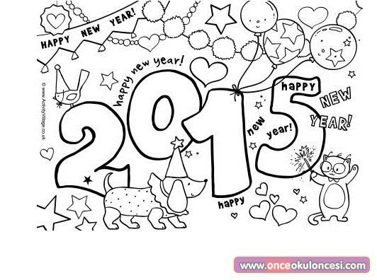 Yeni Yıl Temalı Boyamalar