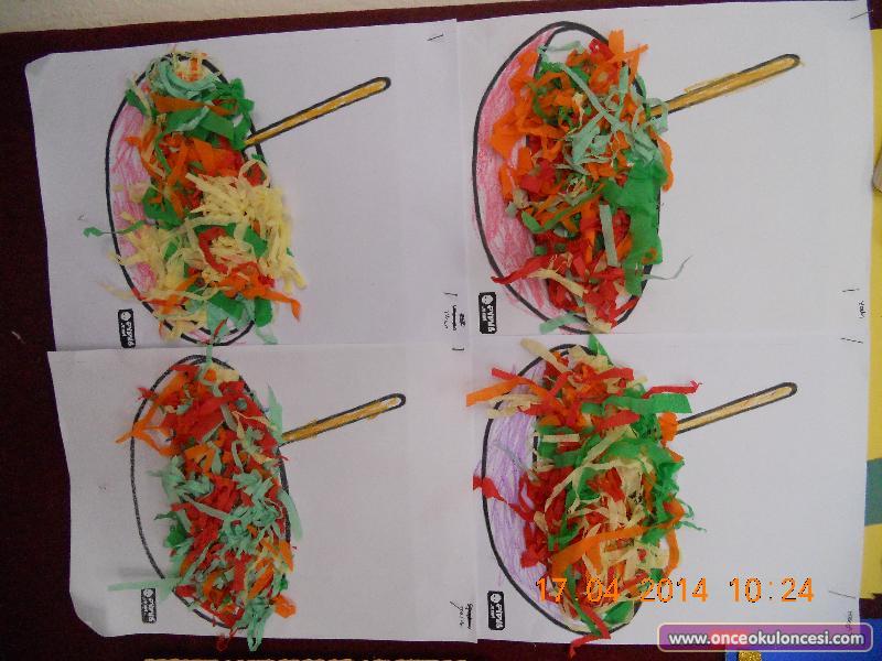 Salata Kelebekler Süpürge Kürek Tabak Kaşık