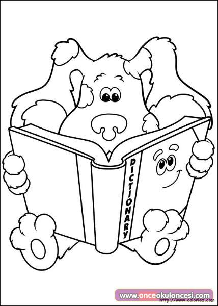 Kitap Okuyan Sevimli Hayvanlar Boyama Sayfasi