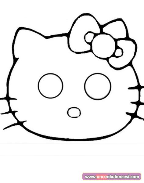 Hello Kitty Maske Ornegi