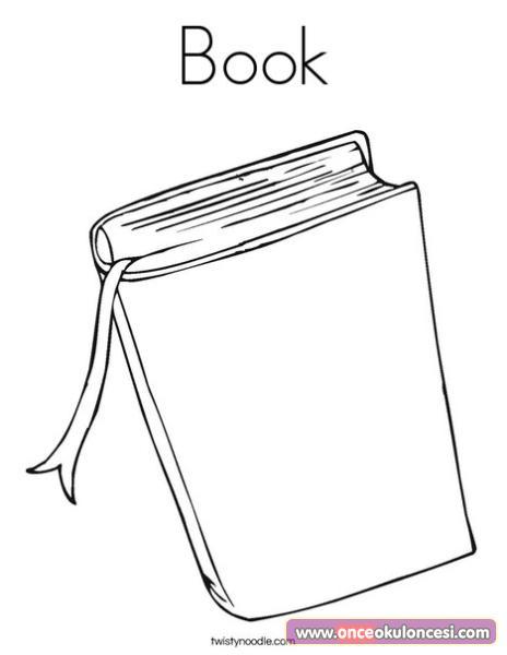 Kitaplarla Ilgili Boyama Sayfalari