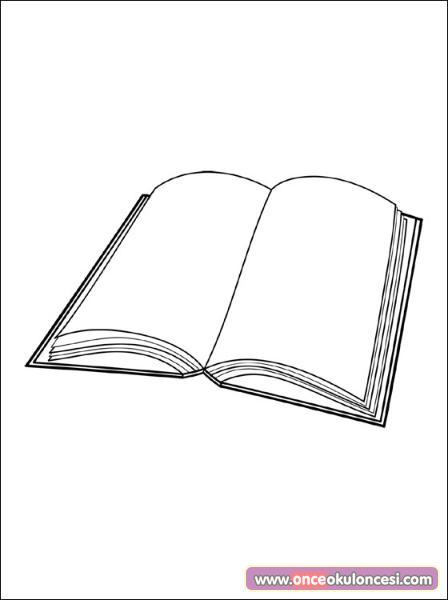 Kitaplar Boyama Sayfası