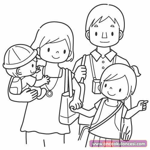 Ailemi Seviyorum Konulu Boyama Sayfaları Sevgi Kavramı