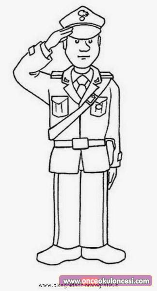 Polisler Konulu Boyama Sayfalari