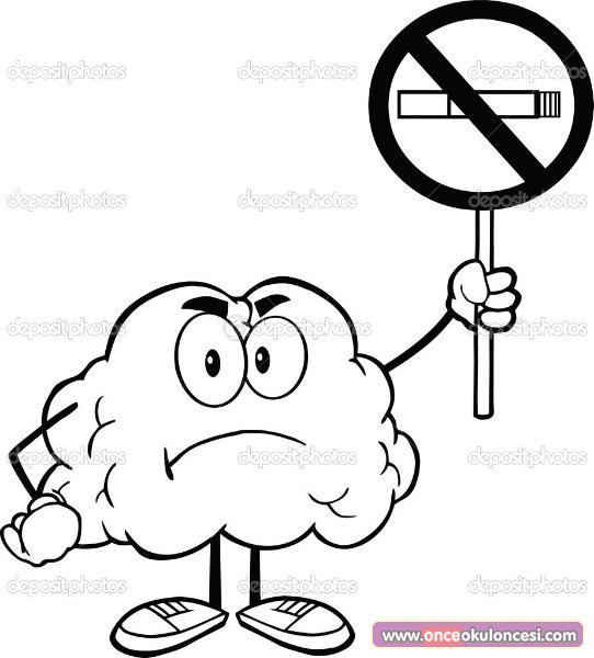 Yeşilay Haftası Için Sigara Içmeyelim Boyama Sayfaları