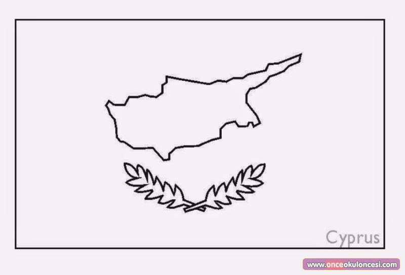 ülkelerin Bayrakları Boyama Sayfası