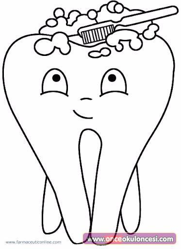 Ağız Ve Diş Sağlığı Ile Ilgili Boyama Sayfaları Gaurani