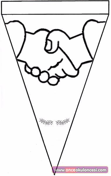 Tokalaşan Eller Boyama Sayfası Barış Değerler Eğitimi