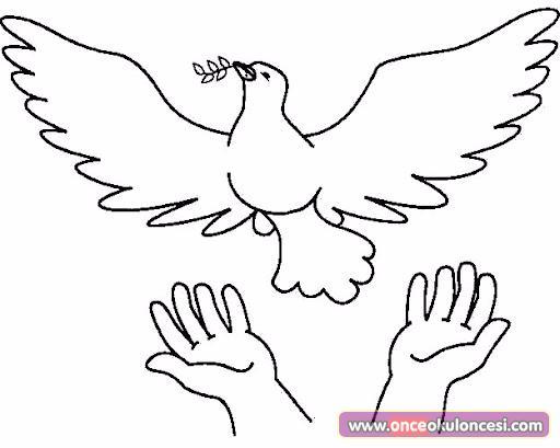 Barış Ile Ilgili Boyama Sayfaları Ve Kalıplar