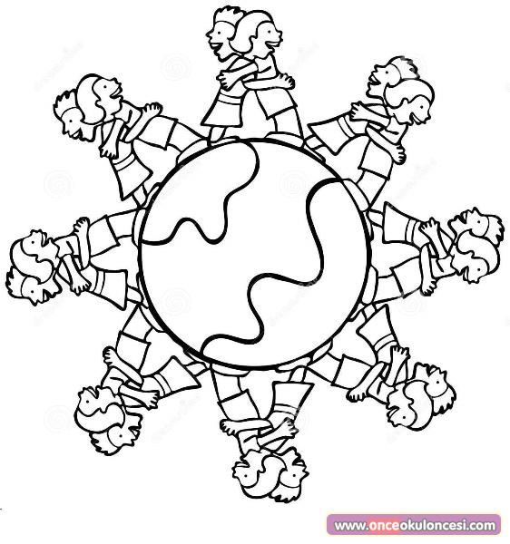 Dünya çocuk Günü Için Boyamalar