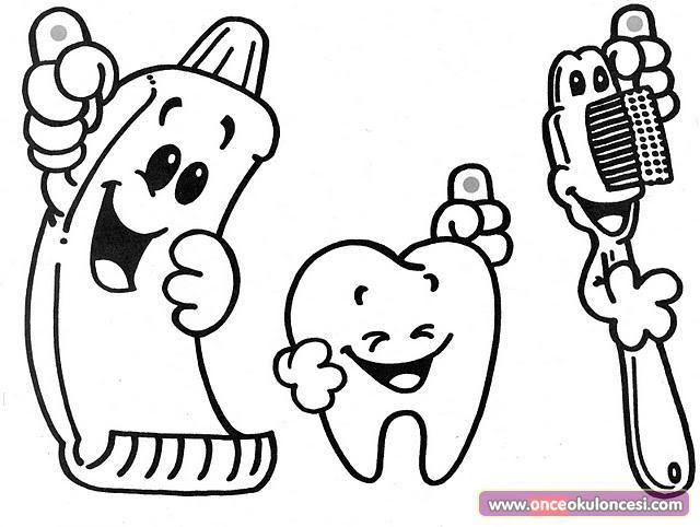 Okul öncesi Diş Boyama