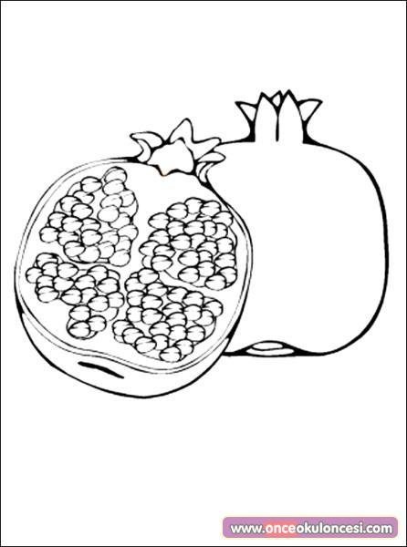 Nar Ve Ayva Boyama Kış Meyveleri
