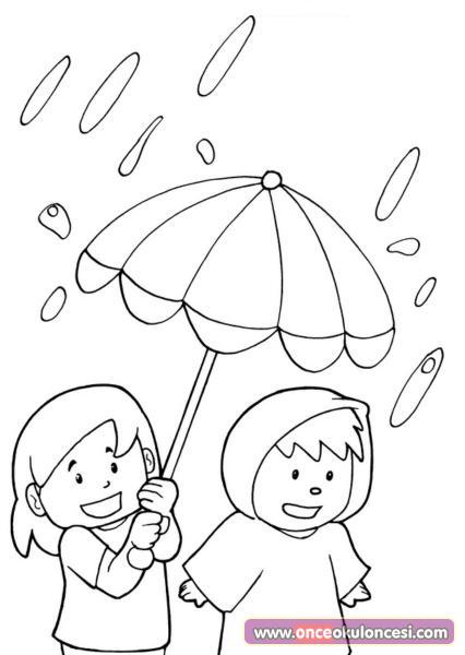 Yağmur Boyama Sonbahar Mevsimi