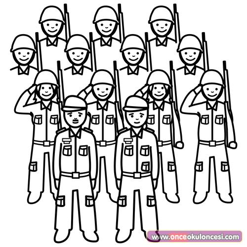 Askerler Boyama