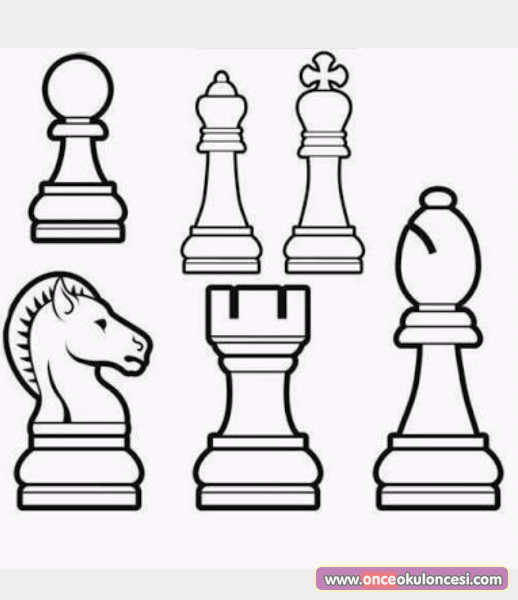 Satranç Boyama Sayfaları
